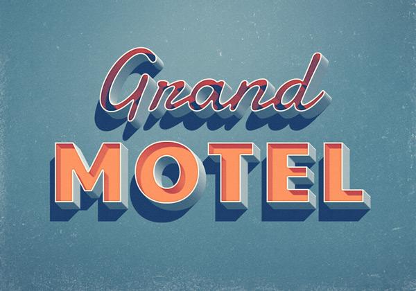 Grand-Motel-effet de texte retro