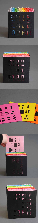 Calendrier Papier original
