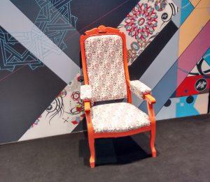 impression textile sur chaise, drupa 2016