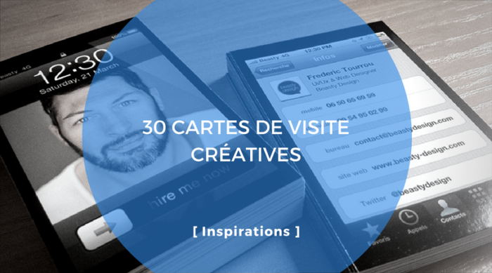 30 Ides De Cartes De Visites Cratives
