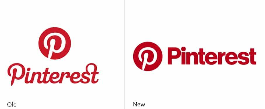 évolution logo pinterest