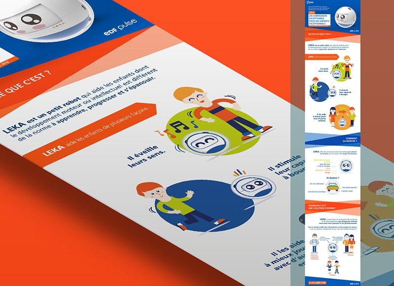 Infographie pour EDF de Mickael Merlet