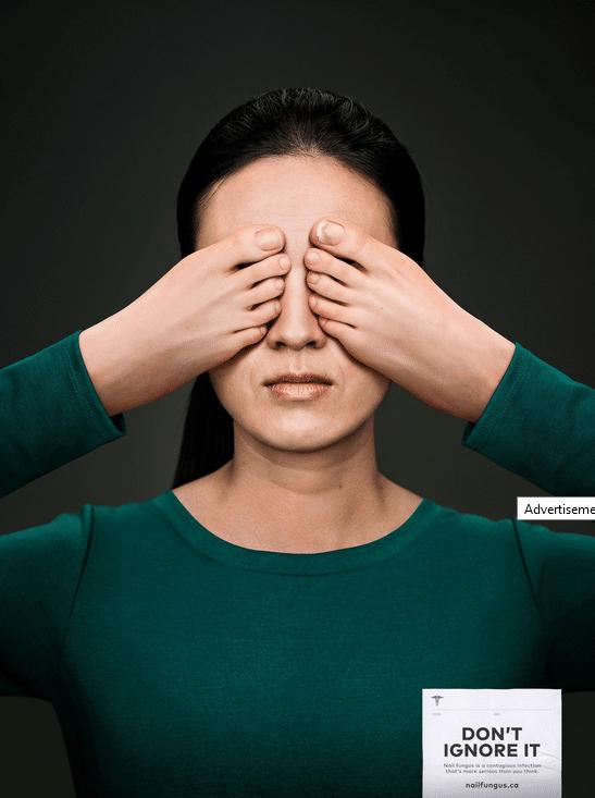 Affichage contre la mycose des ongles
