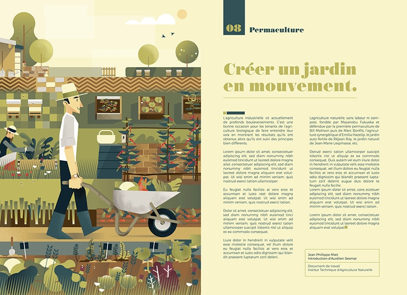 Illustration et mise en page Mickael Merly