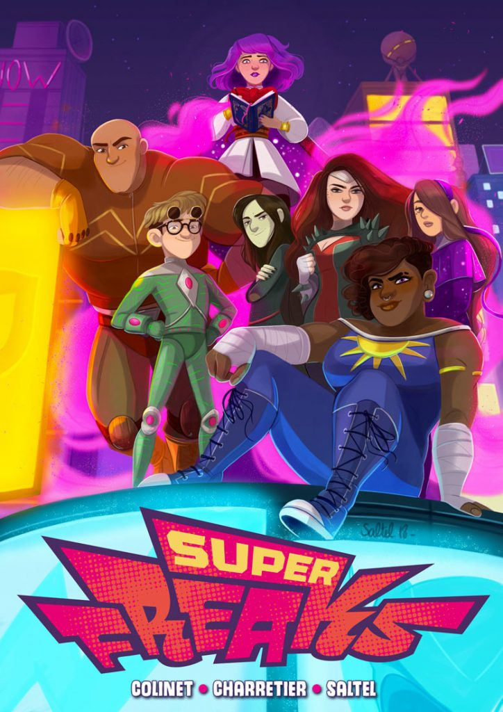 Superfreaks, Margaux Saltel / ComiXology Originals 2018