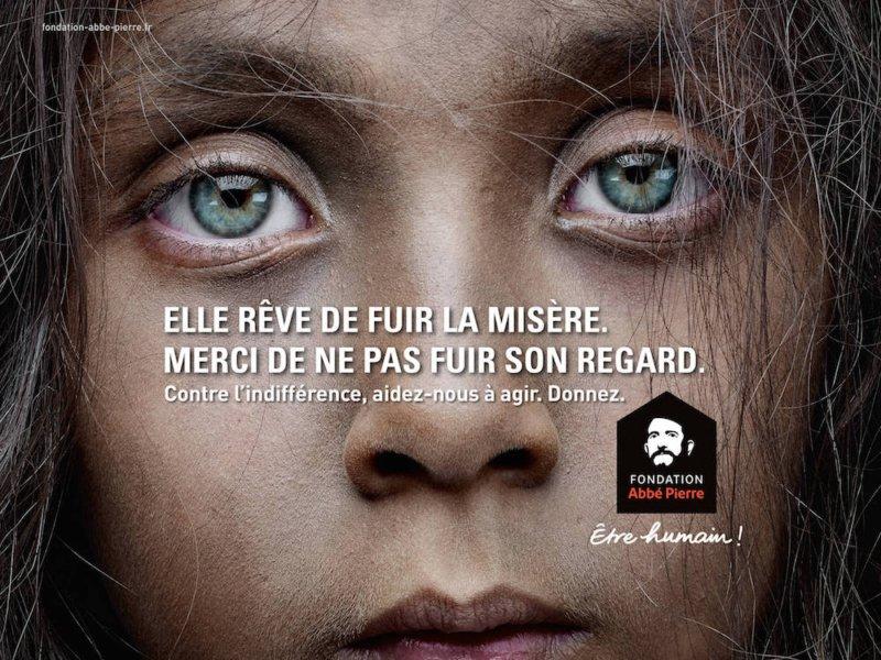 campagne affichage Fondation Abbé Pierre