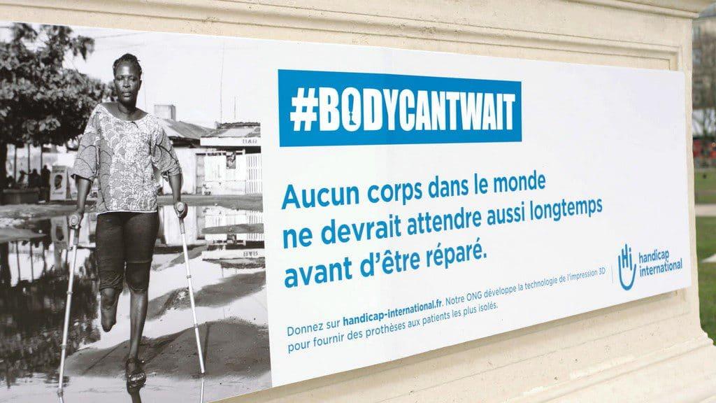 HANDICAP INTERNATIONAL « #BODYCANTWAIT »