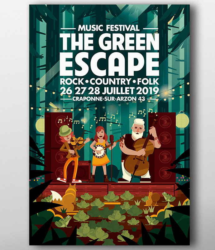 affiche The Green Escape par JP Cabroc