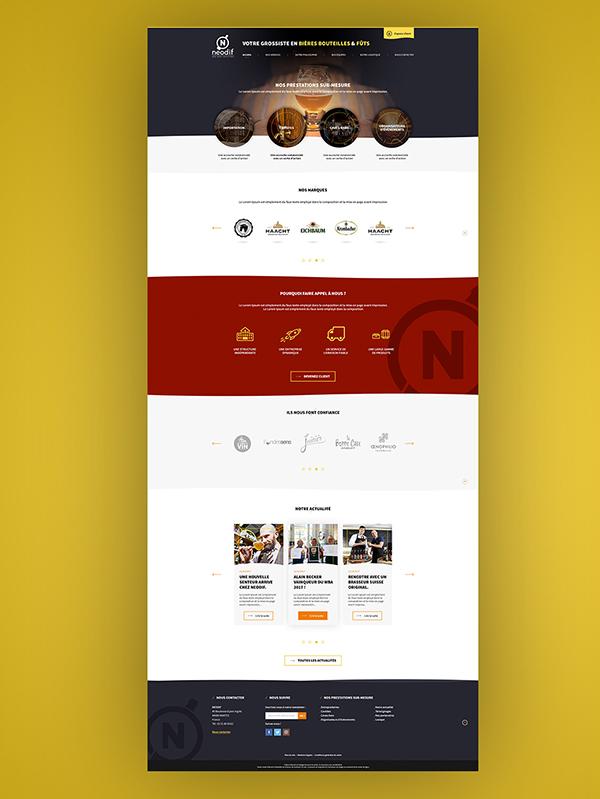 Webdesign neodif bière par Aurélien Sesmat