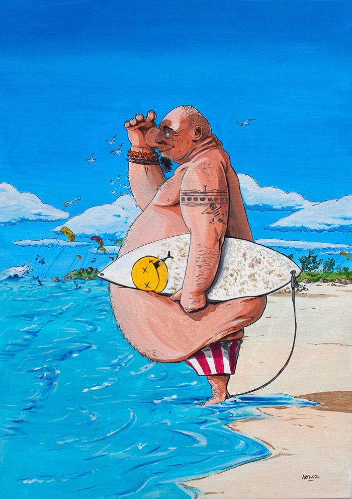 Le surfeur par Artnoz