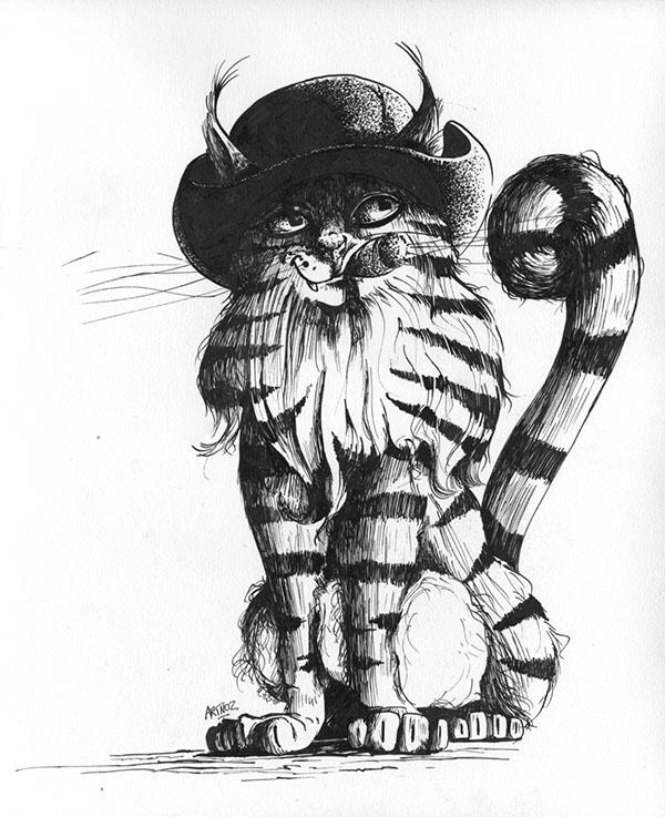 Le chat par Artnoz