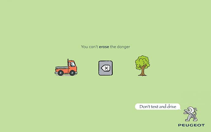 campagne Peugeot : You can't