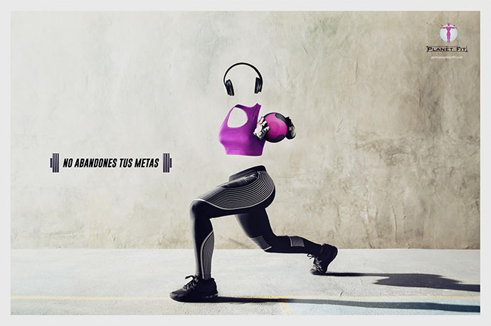 campagne print Planet fit