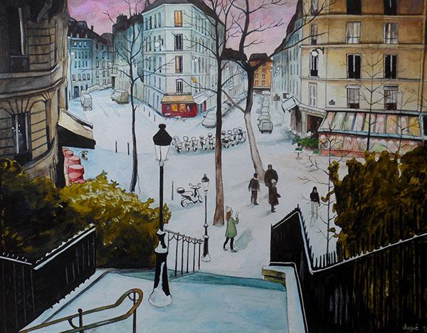 Paris rue Utrillo par Julien Dugué