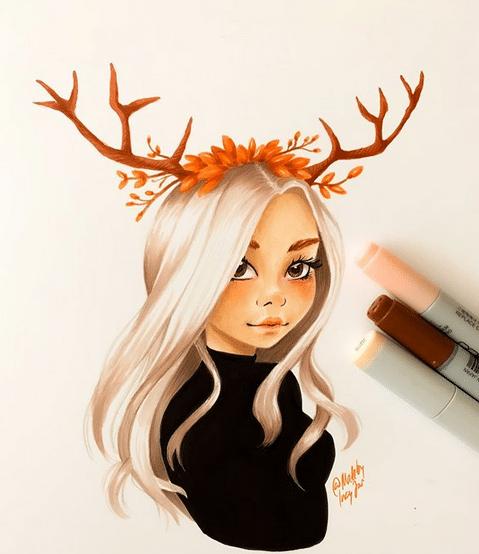 Une création d'Ana Marija inktober 2019
