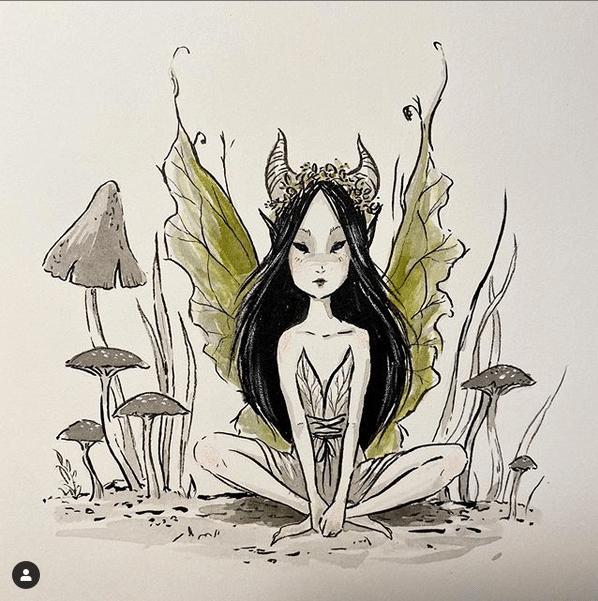 Une fée par Alexandra Thompson pour Inktober 2019