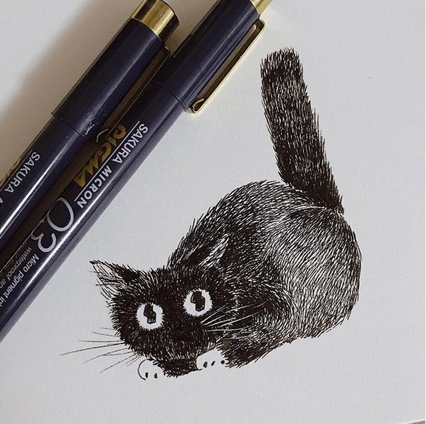 Un des chat des Asa Ishino pour Inktober 2019