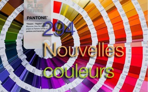 Pantone 294 nouvelles couleurs