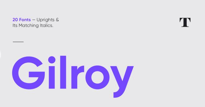 Gilroy typographie