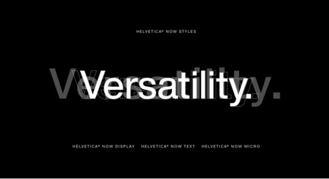 typographie Helvetica now