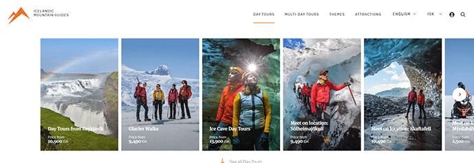 site avec images en format portrait
