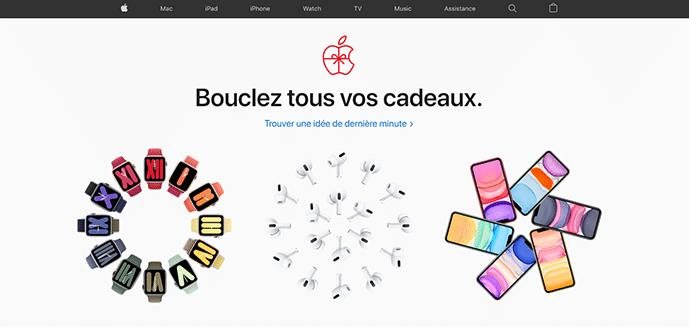 Site web au design minimaliste Apple.com