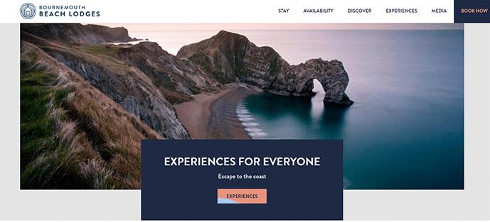 Site web avec des micro intéractions au survol