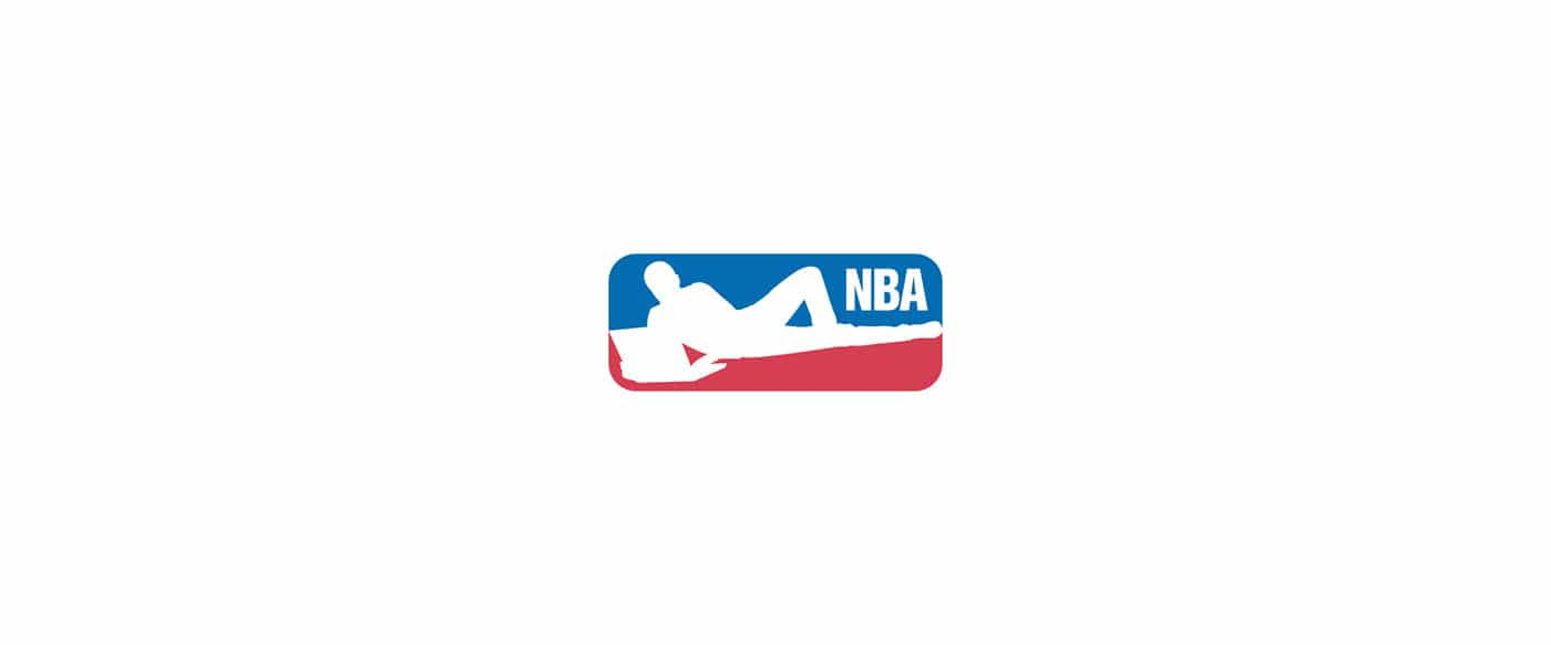 Le logo de la NBA en mode confiné