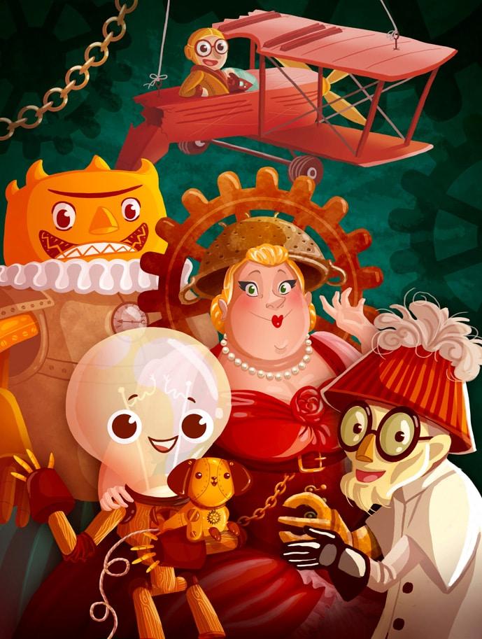 Illustration livre Princesse Mécanique