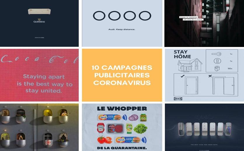 Dix Campagnes Publicitaires Coronavirus