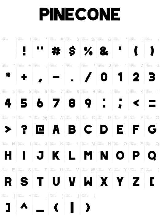 Typographie Coronavirus Pinecone