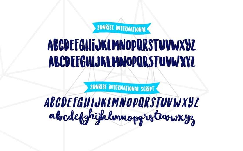 Typographie Coronavirus Sunrise International