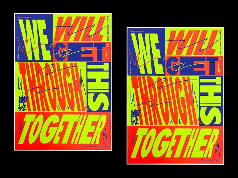 Sérigraphie en collaboration avec Utrecht, conçue par Kris Andrew Small