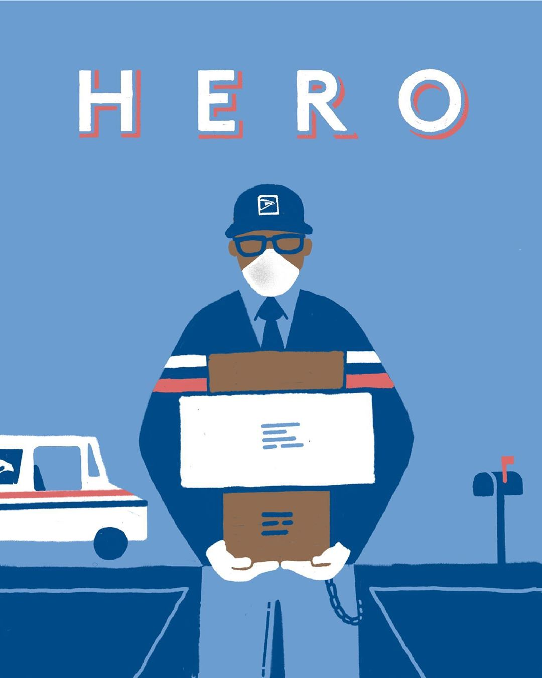 "Illustration ""Hero"" de Slate"