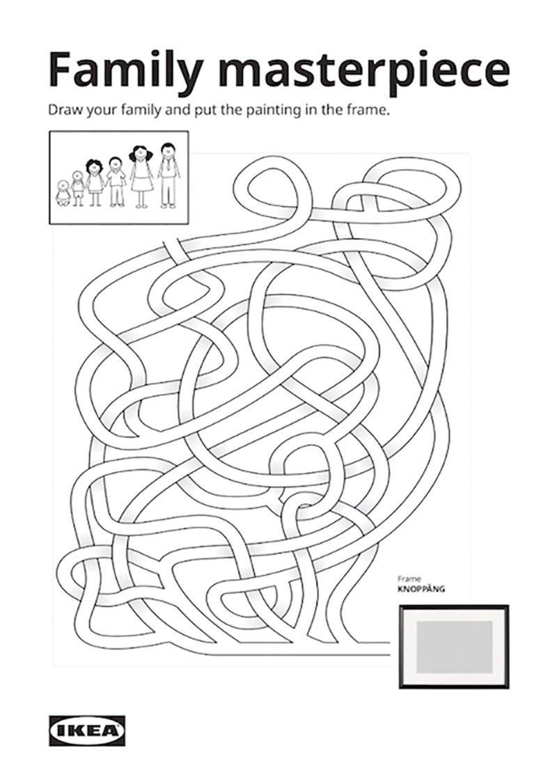 """Print de la campagne """"""""Stay Home Catalog - Family Boredom Solutions"""" d'Ikea"""