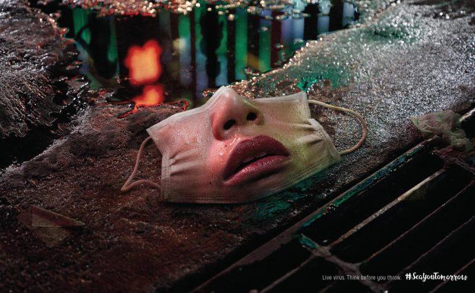 "Print de la campagne ""Masks Alive"" de Sea You Tomorrow"