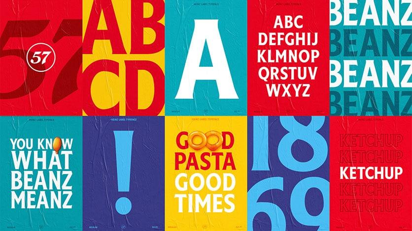 Typographie de la marque Heinz