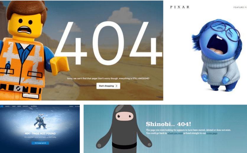 15 exemples de pages 404 pour votre inspiration