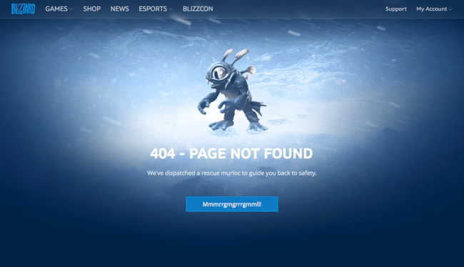 Blizzard page 404