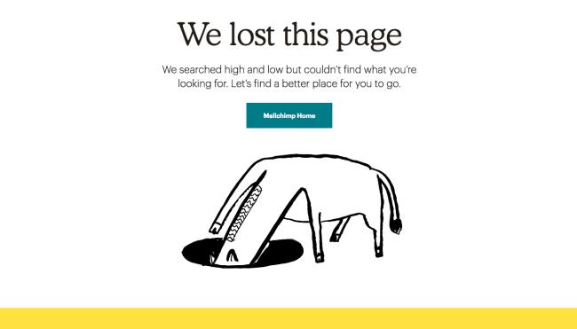 page 404 Mailchimp