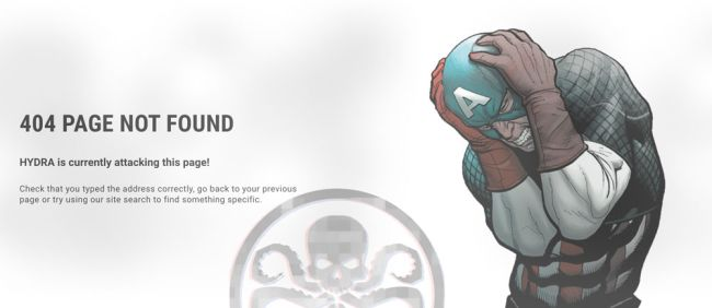 Marvel erreur 404