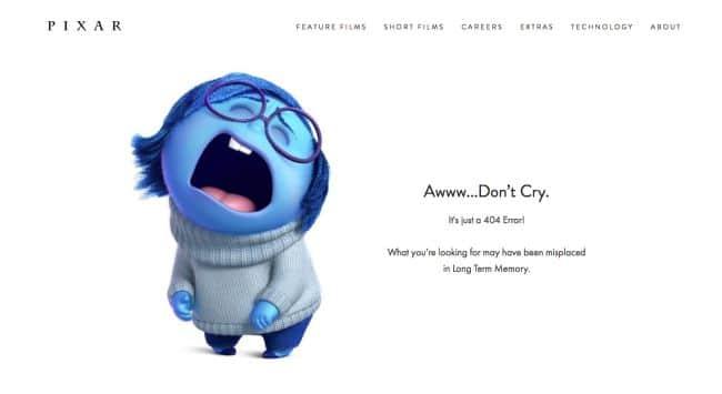 Pixar erreur 404
