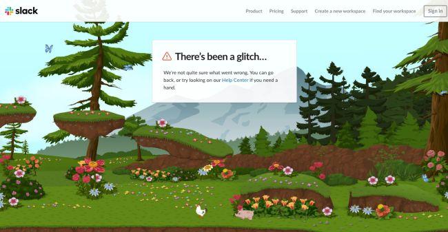 page erreur 404 Slack