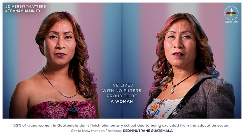 Publicité en soutient à la communauté LGBTQ