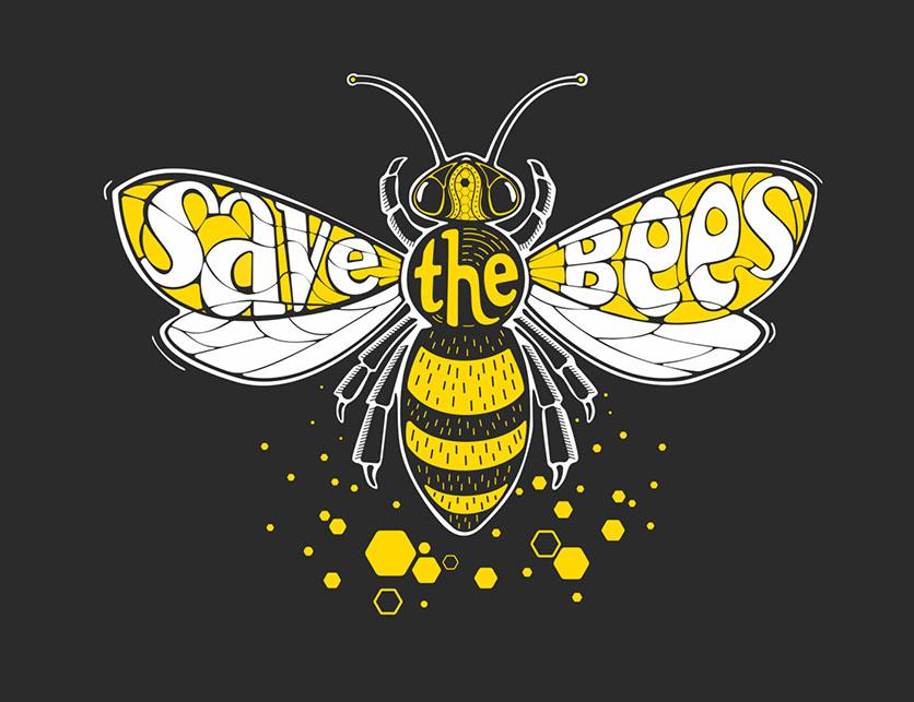 illustration de Iconeo sur la protection des abeilles