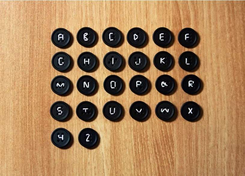 Button typo