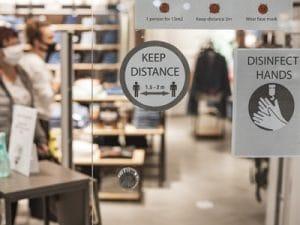 Gestes barrières en magasin - Click & collect