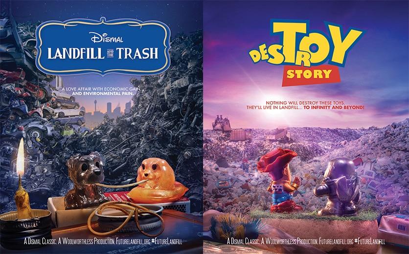 Affiche Parodique Disney Pollution Jouets Plastiques
