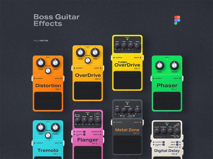 Guitar Effects Made In Figma par Mik Skuza