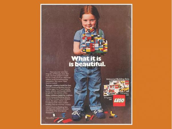 publicité lego originale de 1981